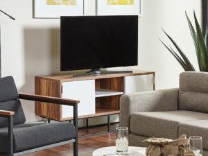 F3 Dmitri media console student housing furniture